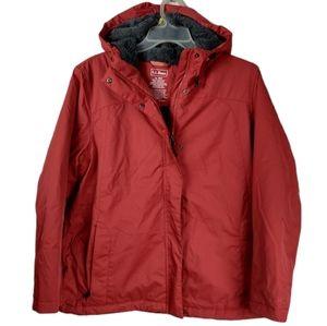 LL Bean Red Winter warmer jacket XL Petite